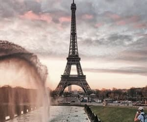 eiffel, paris, and tower image