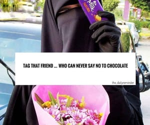 chocolate and hijab image