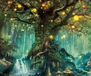 fantasy, forest, and light image