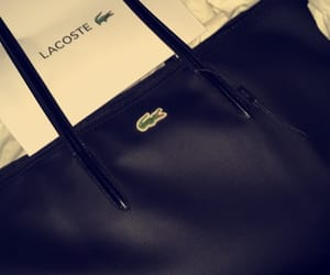 bag, black, and lacoste image