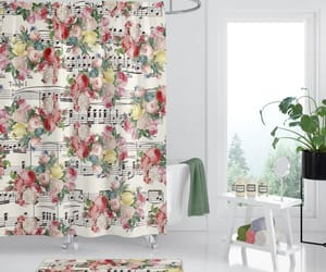 etsy, shower curtain, and fabric curtain image