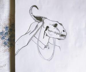 anime, blackandwhite, and drawing image