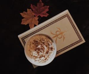 autumn, book, and cocoa image