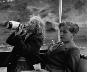 kids, cigarette, and black and white image