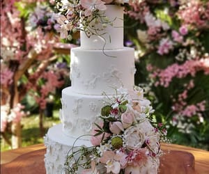 cake, wedding, and love image