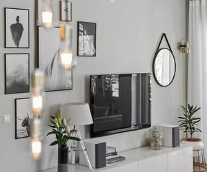 decoration, grey, and living room image