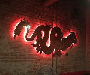 dragon, red, and aesthetic image