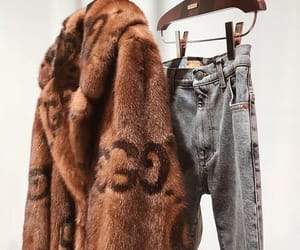 fashion, fur, and jeans image