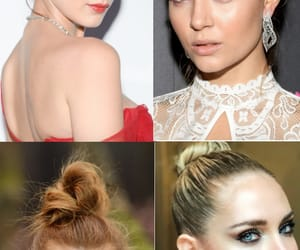 hair up, ‎chiara ferragni‬, and hairstyle image