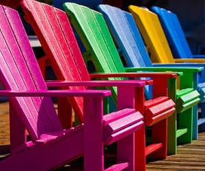 colorful, summer, and chair image