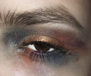 galaxy, gold, and makeup image
