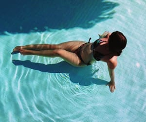 me, turkey, and pool image