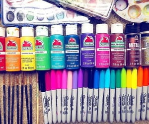 color, escuela, and pintura image