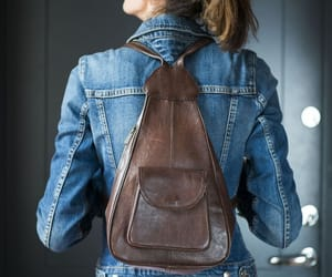 etsy, vintage backpack, and black backpack image