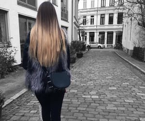 autumn, black, and hair image