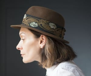 etsy, mayser fedora, and stingy brim hat image
