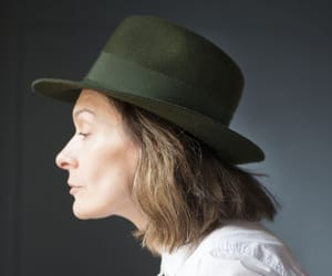 etsy, sustainable fashion, and moss green fedora image