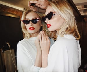 blonde, blue eyes, and models image