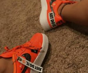 ideas, orange, and sneakers image