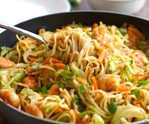 noodles, food, and vegetables image