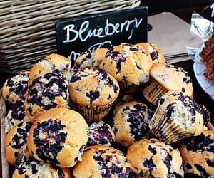 muffin, blueberry, and food image