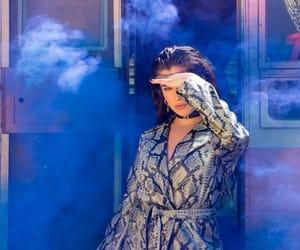 beautiful, blue, and woman image