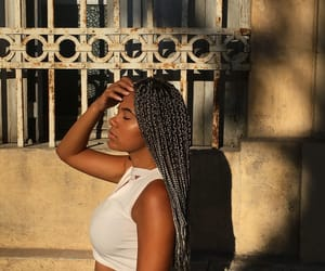 braids, fille, and tresses image