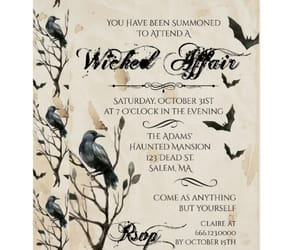 bats, invitation, and party image