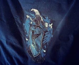 blue, gif, and hogwarts image