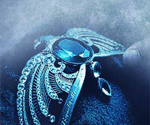 aesthetic, diadem, and blue image