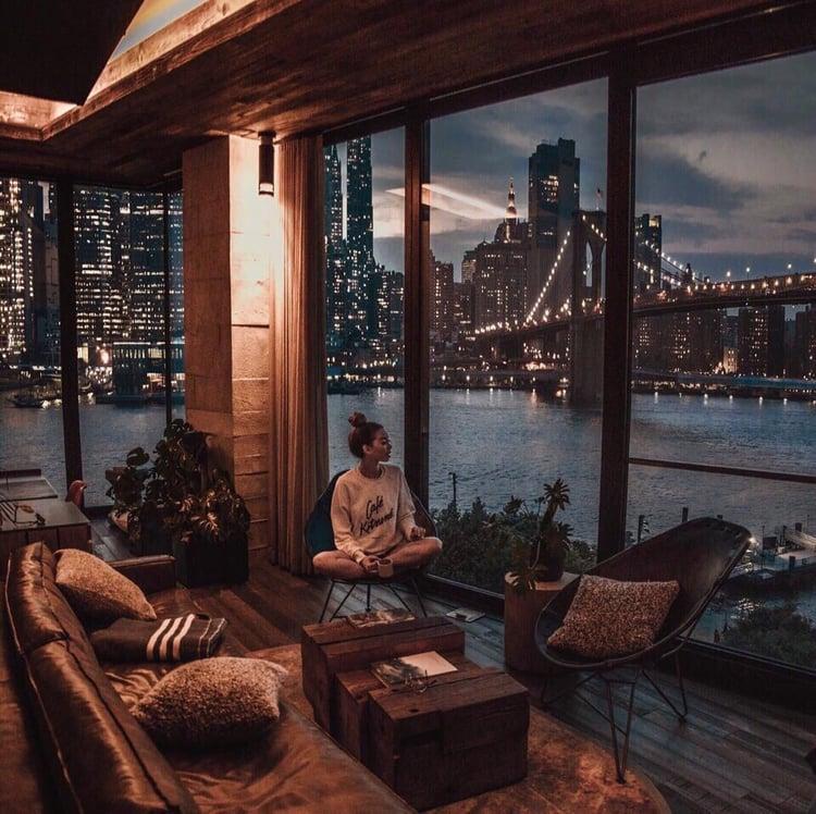 girl, city, and home image