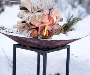 winter, fire, and photography image