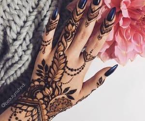 beautiful, hand henna, and design image