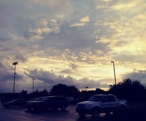 beautiful, parking lot, and sunrise image