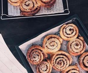 food, cinnamon rolls, and dessert image