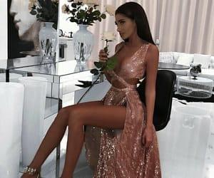 dress, fashion, and rose image