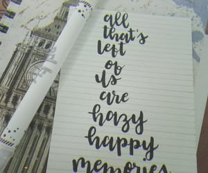 calligraphy, handlettering, and happy image
