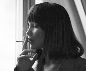 model, bella hadid, and cigarette image