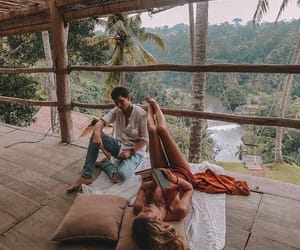 bali, books, and couple image