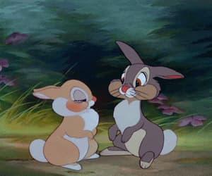 bambi, rabbits, and couples love kiss image