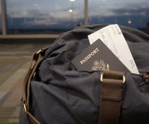 travel, passport, and airport image