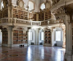 aesthetic, cream, and library image