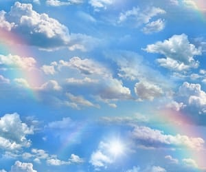 clouds and rainbow image