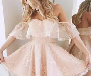 a-line homecoming dress, lace homecoming dress, and homecoming dress short image