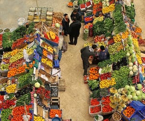 fruit, vegetables, and market image