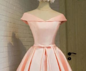 pink homecoming dress, prom dress lace, and homecoming dress a-line image