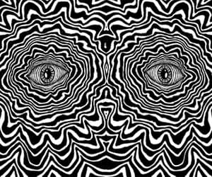 eyes, gif, and illusion image