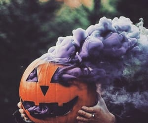 pumpkin, Halloween, and purple image