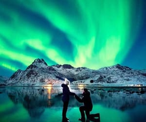 couple, love, and aurora boreal image
