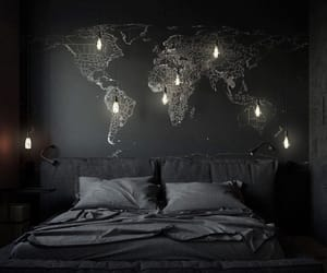 bedroom, map, and design image